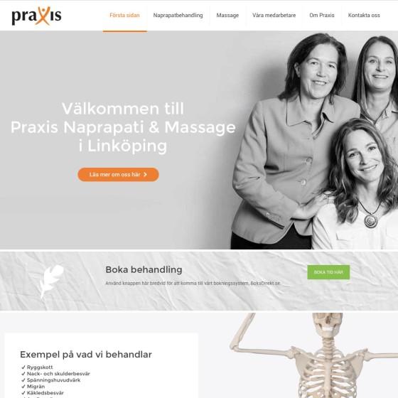 Praxis.se av Magknip Webbyrå i Eskilstuna