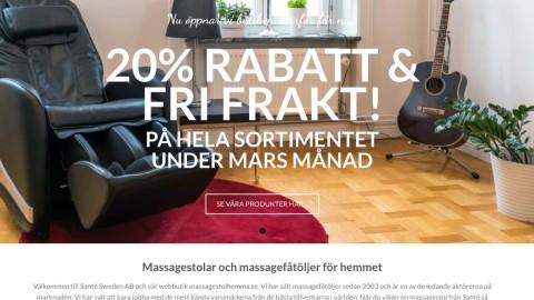 Webbutik Santé Sweden AB - Magknip Webbyrå i Eskilstuna